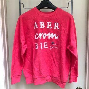 Abercrombie Pink Sweatshirt with Sequin Detailing